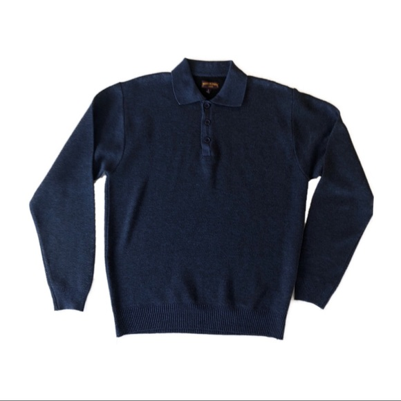 Ministry of Fashion Other - MINISTRY OF FASHION Heather Blue-BlK Polo Sweater